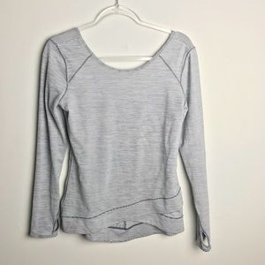 Zella striped long sleeved gym Top